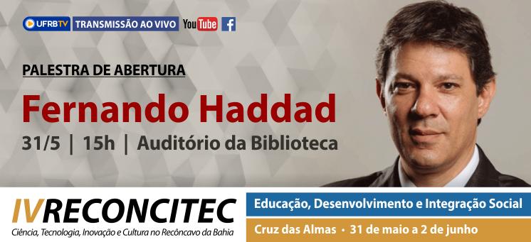 Conferência de abertura com Fernando Haddad
