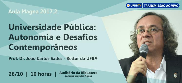 Aula Magna 2017.2 com João Salles