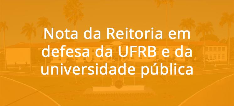 Em defesa da UFRB e da universidade pública