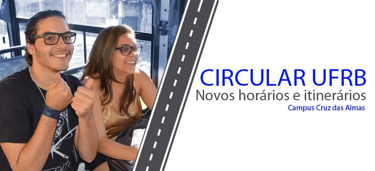 Novos horários e itinerários do Circular UFRB