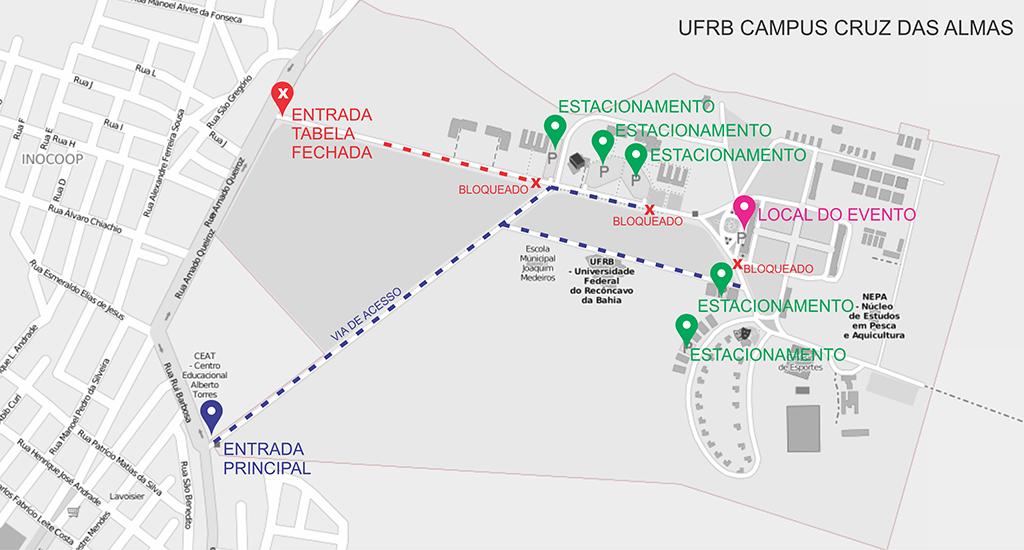 mapa acesso