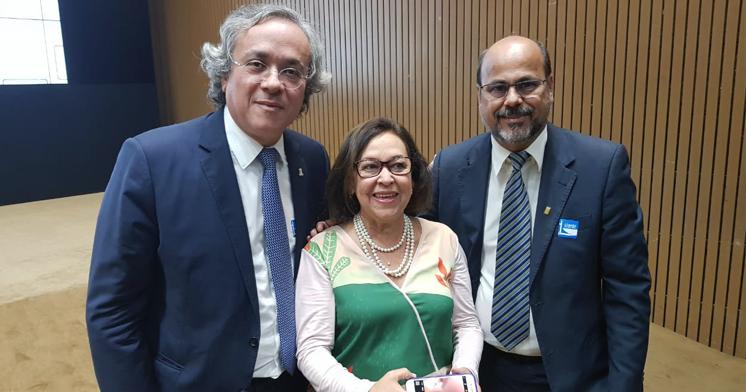 João Salles, reitor da UFBA, Lídice da Mata, deputada federal e Silvio Soglia, reitor da UFRB.