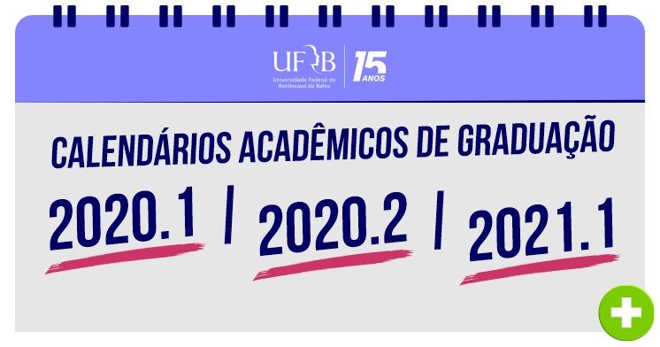 Confira os novos Calendários Acadêmicos