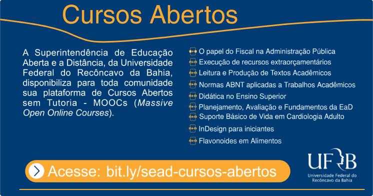 Resultado de imagem para UFRB oferece cursos on-line gratuitos com direito a certificado; confira lista